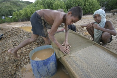 Watch Video: Child gold miners